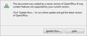 AOO error message