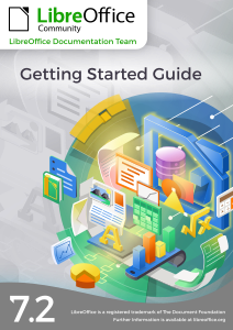 Cover of Getting Started Guide LibreOffice 7.2